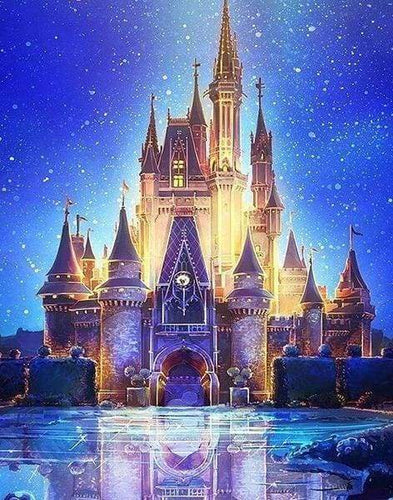 Diamond Painting | Diamond Painting - Fairy Castle | castles Diamond Painting Discover the World discover the world | FiguredArt