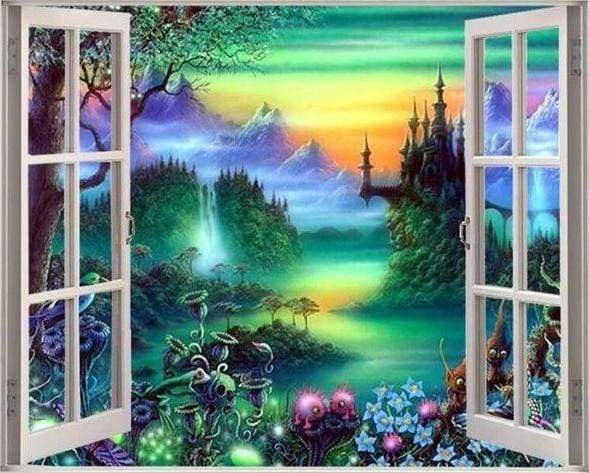 Diamond Painting | Diamond Painting - Fairy View | Diamond Painting Landscapes landscapes | FiguredArt