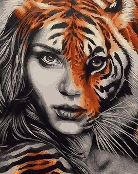 Diamond Painting | Diamond Painting - Female Tiger | animals Diamond Painting Animals tigers | FiguredArt