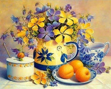 Load image into Gallery viewer, Diamond Painting | Diamond Painting - Flowers and Apricots | Diamond Painting Flowers flowers | FiguredArt