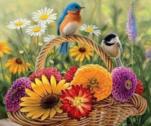 Load image into Gallery viewer, Diamond Painting | Diamond Painting - Flowers and Birds on the basket | animals Diamond Painting Animals | FiguredArt