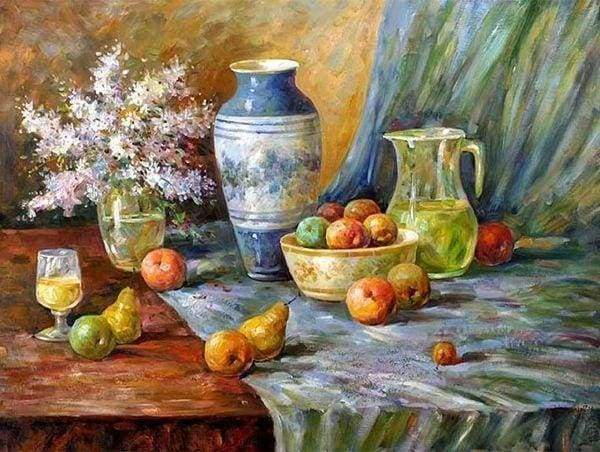 Diamond Painting | Diamond Painting - Fruit on the Table | Diamond Painting kitchen kitchen | FiguredArt
