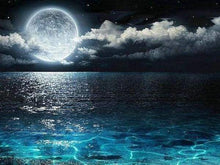 Load image into Gallery viewer, Diamond Painting | Diamond Painting - Full Moon and Sea Reflection | Diamond Painting Landscapes landscapes | FiguredArt