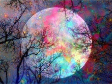 Load image into Gallery viewer, Diamond Painting | Diamond Painting - Full Moon Colorful | Diamond Painting Landscapes landscapes | FiguredArt