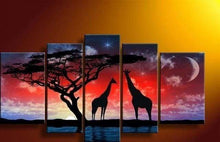 Load image into Gallery viewer, Diamond Painting | Diamond Painting - Giraffes and Africa | animals Diamond Painting Animals giraffes | FiguredArt
