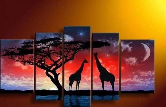 Diamond Painting | Diamond Painting - Giraffes and Africa | animals Diamond Painting Animals giraffes | FiguredArt
