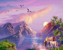 Load image into Gallery viewer, Diamond Painting | Diamond Painting - Horses by the Lake | animals Diamond Painting Animals horses | FiguredArt