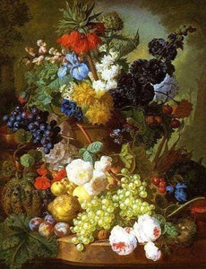 Diamond Painting | Diamond Painting - Large basket of fruits | Diamond Painting Flowers flowers | FiguredArt