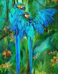 Diamond Painting | Diamond Painting - Large Parrots | animals birds Diamond Painting Animals parrots | FiguredArt