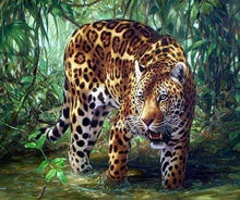 Load image into Gallery viewer, Diamond Painting | Diamond Painting - Leopard in the Jungle | animals Diamond Painting Animals leopards | FiguredArt