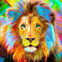 Load image into Gallery viewer, Diamond Painting | Diamond Painting - Lion Multicolor | animals Diamond Painting Animals lions | FiguredArt