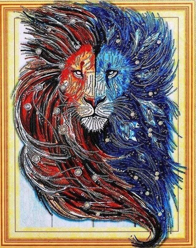 Diamond Painting | Diamond Painting - Lion Style | animals Diamond Painting Animals lions | FiguredArt