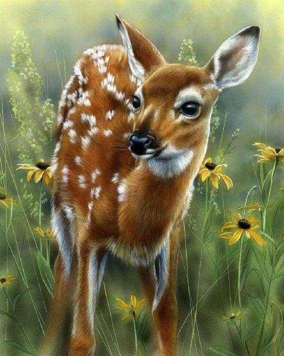 Diamond Painting | Diamond Painting - Little Fawn | animals Diamond Painting Animals | FiguredArt