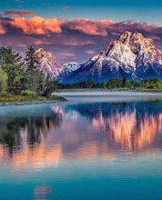 Load image into Gallery viewer, Diamond Painting | Diamond Painting - Mountain Landscape and Lake | Diamond Painting Landscapes landscapes mountains | FiguredArt