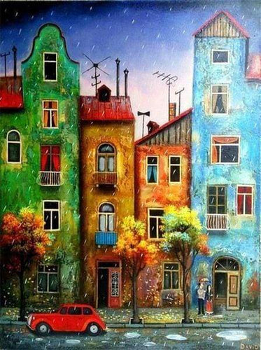 Diamond Painting | Diamond Painting - Neighborhood | cities Diamond Painting Cities | FiguredArt
