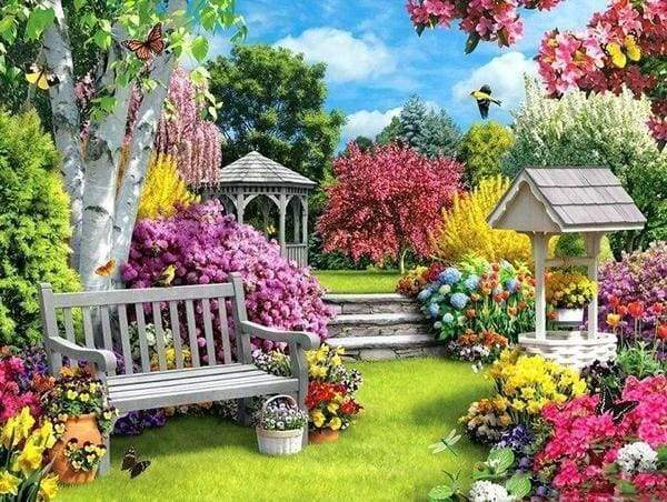 Diamond Painting | Diamond Painting - Nice Garden | Diamond Painting Landscapes landscapes | FiguredArt