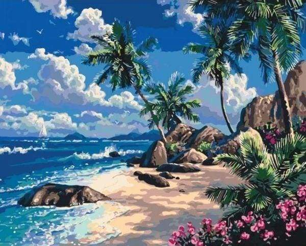 Diamond Painting | Diamond Painting - On the Beach | Diamond Painting Landscapes landscapes | FiguredArt