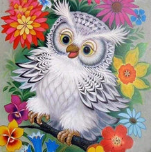 Load image into Gallery viewer, Diamond Painting | Diamond Painting - Owl and Flowers | animals Diamond Painting Animals flowers owls | FiguredArt