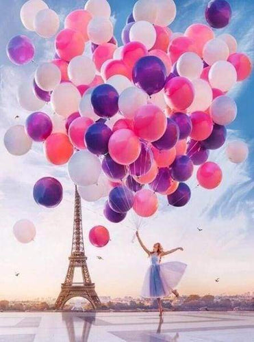 Diamond Painting | Diamond Painting - Paris and Balloons | cities Diamond Painting Cities Diamond Painting Romance romance | FiguredArt