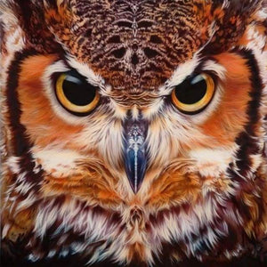 Diamond Painting | Diamond Painting - Portrait of Owls | animals Diamond Painting Animals owls | FiguredArt