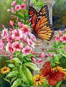 Diamond Painting | Diamond Painting - Pretty Butterflies and Flowers | animals butterflies Diamond Painting Animals Diamond Painting Flowers