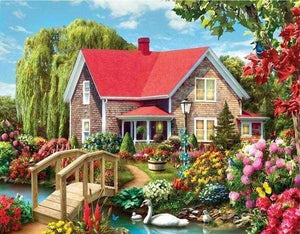 Diamond Painting | Diamond Painting - Pretty House | Diamond Painting Landscapes landscapes | FiguredArt