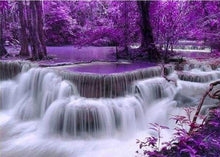 Load image into Gallery viewer, Diamond Painting | Diamond Painting - Purple Waterfall | Diamond Painting Landscapes landscapes | FiguredArt