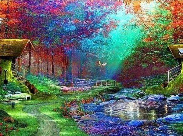 Diamond Painting | Diamond Painting - Relaxing Garden | Diamond Painting Landscapes landscapes | FiguredArt