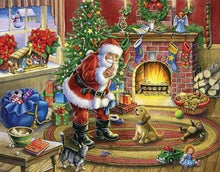 Load image into Gallery viewer, Diamond Painting | Diamond Painting - Santa Claus and Dog | animals christmas Diamond Painting Animals Diamond Painting Religion dogs |