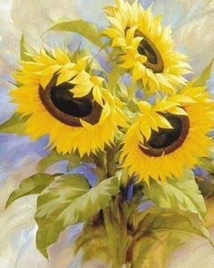 Diamond Painting | Diamond Painting - Small Sunflowers | Diamond Painting Flowers flowers | FiguredArt