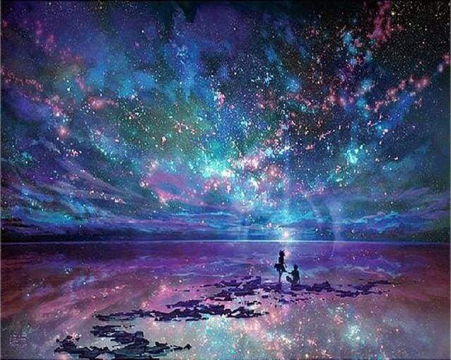 Diamond Painting | Diamond Painting - Starry Sky and Romance | Diamond Painting Landscapes landscapes | FiguredArt
