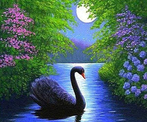 Diamond Painting | Diamond Painting - Swan | animals birds Diamond Painting Animals swans | FiguredArt