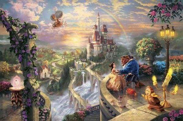 Diamond Painting | Diamond Painting - The Enchanted Castle | castles Diamond Painting Landscapes landscapes | FiguredArt