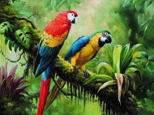 Diamond Painting | Diamond Painting - The Parrots | animals birds Diamond Painting Animals parrots | FiguredArt