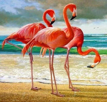 Load image into Gallery viewer, Diamond Painting | Diamond Painting - Three Flamingos | animals Diamond Painting Animals flamingos | FiguredArt