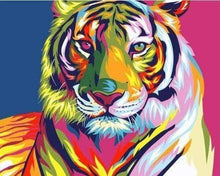 Load image into Gallery viewer, Diamond Painting | Diamond Painting - Tiger colorful | animals Diamond Painting Animals tigers | FiguredArt