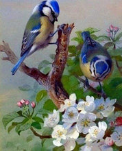 Load image into Gallery viewer, Diamond Painting | Diamond Painting - Tits on branch | Diamond Painting Flowers flowers | FiguredArt