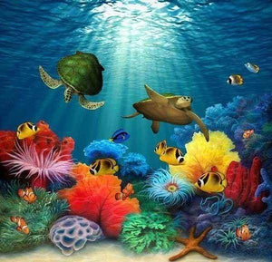 Diamond Painting | Diamond Painting - Under the Sea | animals Diamond Painting Animals | FiguredArt
