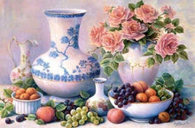 Load image into Gallery viewer, Diamond Painting | Diamond Painting - Vases and Fruits | Diamond Painting Flowers Diamond Painting kitchen flowers kitchen | FiguredArt