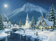 Load image into Gallery viewer, Diamond Painting | Diamond Painting - Village in the Snow | Diamond Painting Landscapes landscapes winter | FiguredArt