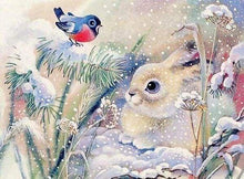 Load image into Gallery viewer, Diamond Painting | Diamond Painting - White Rabbit in the Snow | animals Diamond Painting Animals rabbits winter | FiguredArt