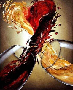 Diamond Painting | Diamond Painting - Wine Blend | Diamond Painting kitchen kitchen | FiguredArt