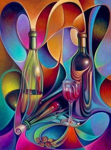 Diamond Painting | Diamond Painting - Wine Design | Diamond Painting kitchen kitchen | FiguredArt