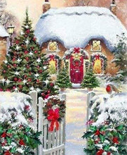 Load image into Gallery viewer, Diamond Painting | Diamond Painting - Winter House | Diamond Painting Landscapes landscapes winter | FiguredArt
