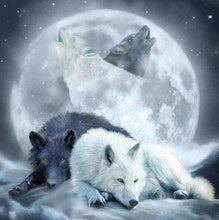 Load image into Gallery viewer, Diamond Painting | Diamond Painting - Wolves howling at the Moon | animals Diamond Painting Animals rabbits wolves | FiguredArt