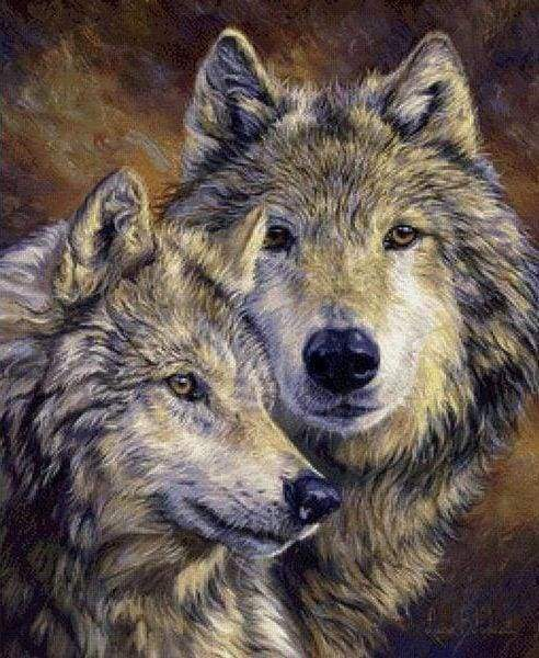 Diamond Painting | Diamond Painting - Wolves Portrait | animals Diamond Painting Animals rabbits wolves | FiguredArt