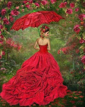 Load image into Gallery viewer, Diamond Painting | Diamond Painting - Woman in red dress | Diamond Painting Romance romance | FiguredArt