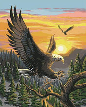 Load image into Gallery viewer, paint by numbers | Eagle at Sunrise | animals birds eagles easy landscapes | FiguredArt