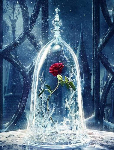 paint by numbers | Enchanted Rose Beauty and The Beast | flowers intermediate movies | FiguredArt