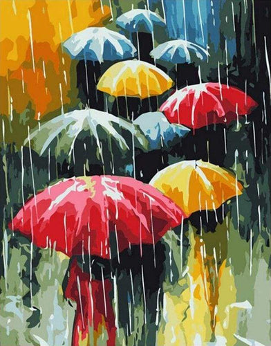 paint by numbers | Farandole of Umbrellas | cities easy | FiguredArt
